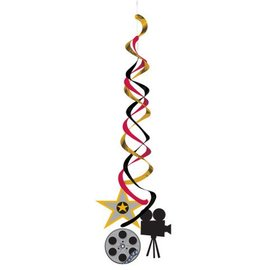 Danglers-Foil Swirl-Hollywood Movie Night-2pkg-36""