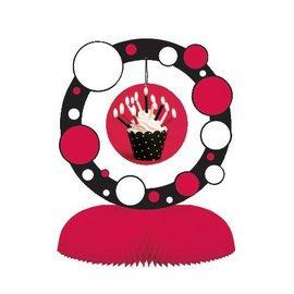 "Centerpiece-Honeycomb-Cupcake Blowout Dots-1pkg-11.75"""