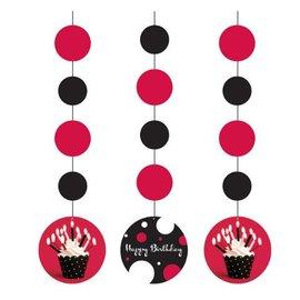 "Hanging Cutouts-Cupcake Blowout-3pkg-36"""