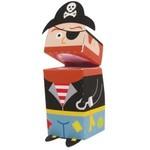 Finger Puppet-Pirate-1.2''x2.5''-4pk