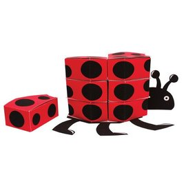 Centerpiece-Favor Box-Ladybug Fancy-1pkg-11.25""