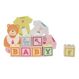 Centerpiece with Favor Boxes-Baby Bear Blocks-1pkg-14.75""
