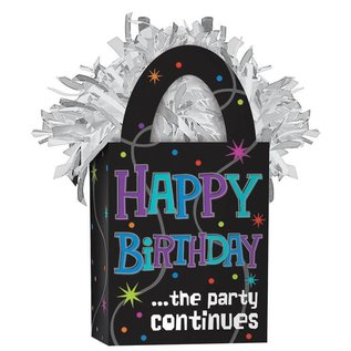 Balloon Weight-The Party Continues Happy Birthday
