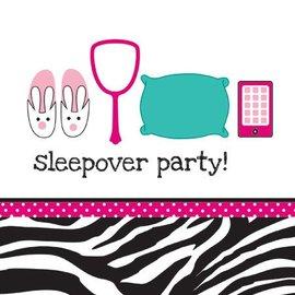 Napkins-LN-Pink Zebra Sleepover-16pkg-3ply