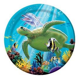 Plates-BEV-Ocean Party-8pkg-Paper - Discontinued