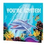 Invitations-Ocean Party-8pkg