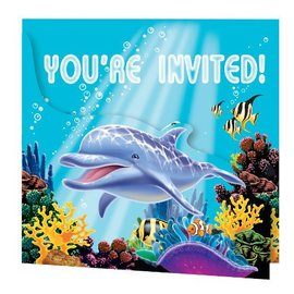 Invitations-Ocean Party-8pkg