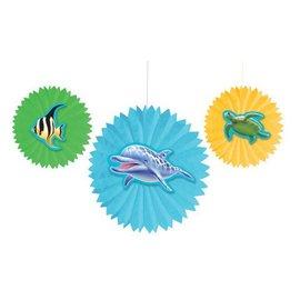 """Paper Fans-Ocean Party-3pkg-8""""-12"""""""