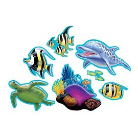 "Cutouts-Ocean Party-7pkg-4""-15"""
