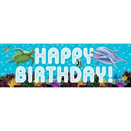 Party Banner-Plastic-Ocean Party-1pkg