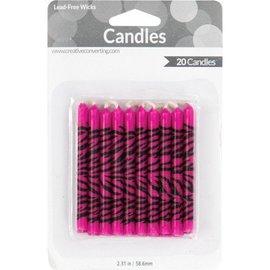 Candles-Pink Zebra-20pkg