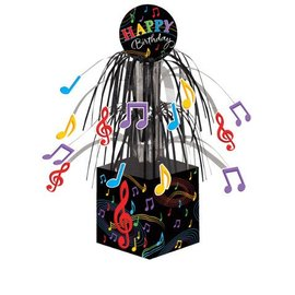 Centerpiece-Foil Cascade-Dancing Musical Notes-1pkg-8.5""