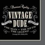 Beverage Napkins-Vintage Dude- Discontinued
