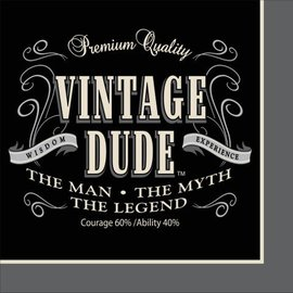 Napkins-BEV-Vintage Dude-16pkg-3ply - Discontinued