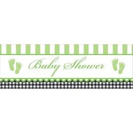 Party Banner-Plastic-Sweet Green Baby Shower-1pkg