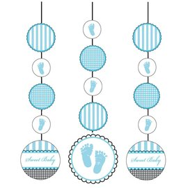 """Hanging Cutouts-Sweet Blue Baby Shower-3pkg-36"""""""