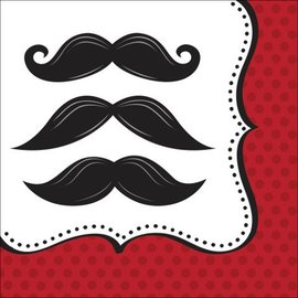 Lunch Napkins- Mustache Madness- 16pk/3ply- Discontinued