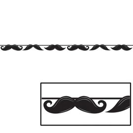 Banner-Ribbon-Mustache Birthday-1pkg-5.5ft