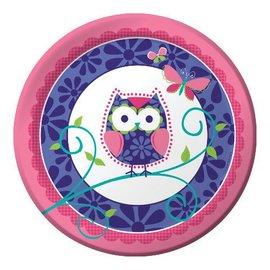 Plates-LN-Owl Pal-8pkg-Paper