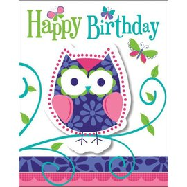 Invitations-Owl Pal-8pkg