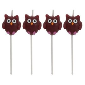 Pick Candles-Owl Pal-2.95''-4pcs