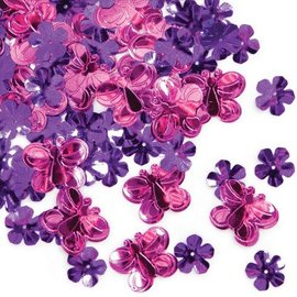 Confetti- Pink & Purple Butterfly- 14g