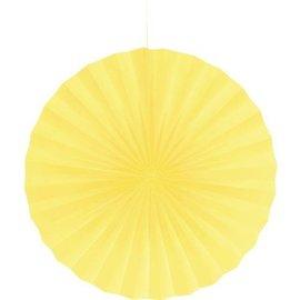 Paper Fan-Mimosa Yellow-1pkg-16''