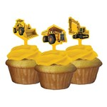 Cupcake Toppers-Construction Zone-12pkg