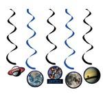 "Danglers-Foil Swirl-Space Blast Birthday-5pkg-36"""