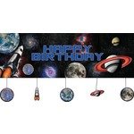 Party Banner with Cutouts - Plastic - Space Blast - 1pkg