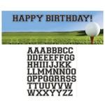 Party Banner-Plastic-Customizable-Golf Fanatic-1pkg