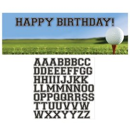 Party Banner-Plastic-Customizable-Golf Fanatic-1pkg