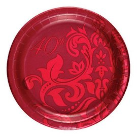 Plates-BEV-Ruby 40th Anniversary-18pkg-Foil - Discontinued