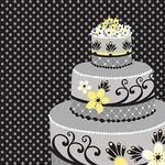 Napkins-LN-Chic Wedding Cake-16pkg-3ply (Discontinued)