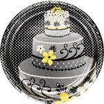 Plates-DN-Chic Wedding Cake-8pkg-Foil (Discontinued)