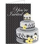 Invitations-Chic Wedding Cake-8pkg