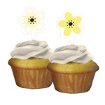 Cupcake Toppers-Chic Wedding Cake-12pkg