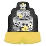 "Centerpiece-Honeycomb-Chic Wedding Cake-1pkg-11.75"""
