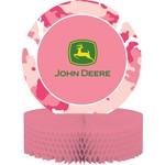 """Centerpiece-Honeycomb-Pink John Deere-1pkg-11.75"""""""