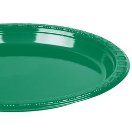 Plates-BEV-Emerald Green-20pkg-Plastic