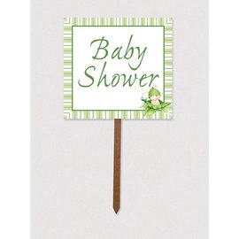 Lawn Sign-Cardstock-Sweet Pea Baby Shower-1pkg-15""