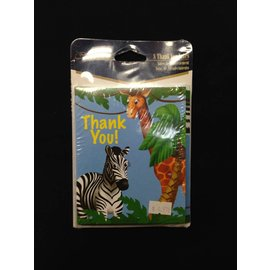 Invitations-Jungle Animals-8pk