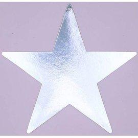 Cutout-Star-Silver-Foil-15''