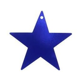"Cutout - Foil - Star - Blue - 5"" - 12pc"