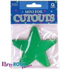 Cutouts-Star-Mini-Green-12pkg-Foil-3.5''