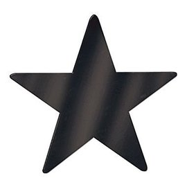 Cutouts-Star-Mini-Black-12pkg-Foil-3.5''
