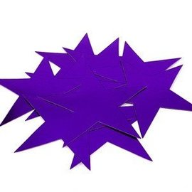 Cutouts-Star-Mini-Purple-12pkg-Foil-3.5''