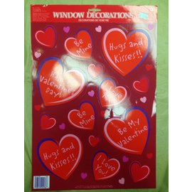 Window Stickers-Valentine-Hearts