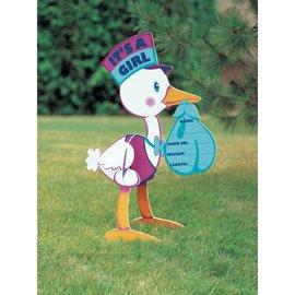 Yard Sign-Stork, Its a girl-36.2'' x 30.75''