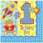 Luncheon Napkins-Hugs and Stitches Boy-16pk-2ply - Discontinued